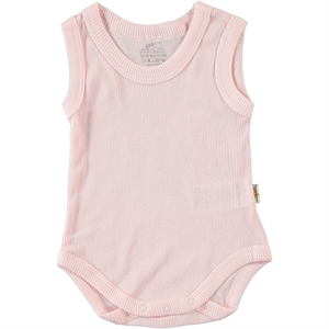 Minidamla Of Children Age 2-4 Pink Bodysuit With Snaps