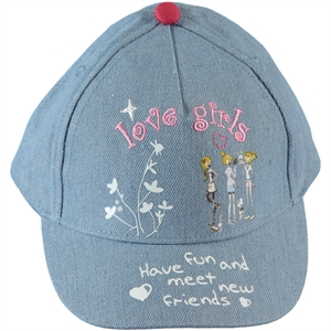 Kitti Boy Girl Blue Hat Cap Ages 4-8