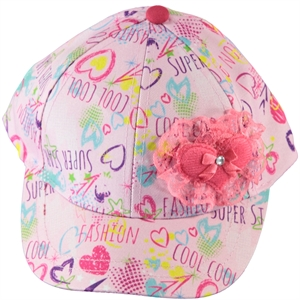 Kitti Boy Girl Pink Hat Cap Ages 4-8