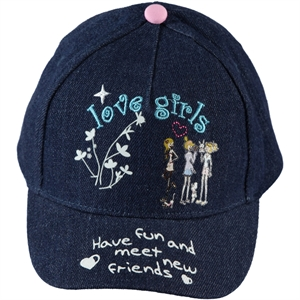 Kitti Girl Boy Cap Hat Navy Blue Ages 4-8