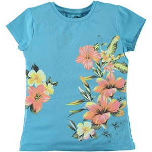 Cvl Girl Kids T-Shirt Turquoise The Ages Of 6-9