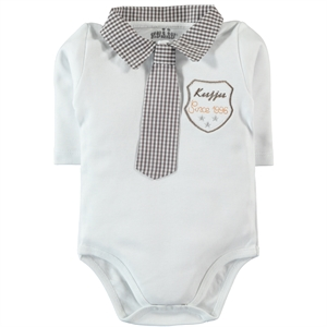 Kujju Baby Boy Bodysuit With Snaps Brown, 3-9 Months