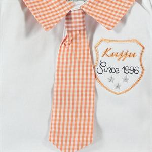 Kujju 3-9 Months Baby Boy Bodysuit With Snaps Orange (2)