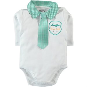Kujju Yesil 12-24 Months Baby Boy Bodysuit With Snaps