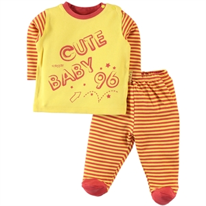 Kujju 3-18 Months Baby Boy Suit Yellow