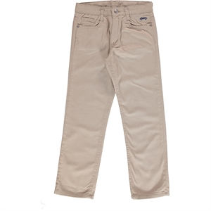 Civil Boys Beige Linen Trousers Age 14-16 Boy