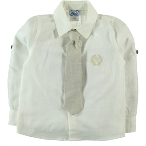 Civil Boys Beige Shirt Age 6-9 Boy