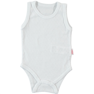 Civil Baby 0-9 Months White Baby Bodysuit With Snaps