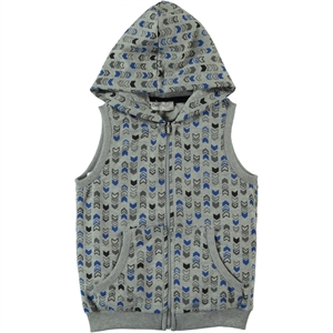 Cvl Boy's Gray Hooded Vest 2-5 Years