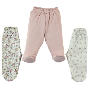 Misket Baby girl Patterned 3-Oh single child baby booty powder pink 1-3 months