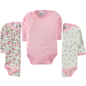 Misket Baby girl Bodysuit with snaps 3-0-12 months-Pink (1)