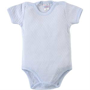 Misket 0-12 Months Baby Bodysuit With Snaps, Blue