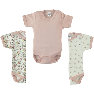 Misket Baby girl Bodysuit with snaps 3-0-12 months powder pink
