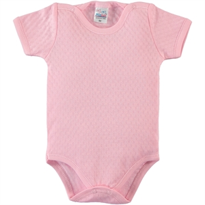 Misket 0-12 Months Baby Pink Bodysuit With Snaps