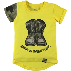 Victory Boy's Printed T-Shirt Yellow 2-5 Years