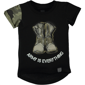 Victory Boy's Printed Black T-Shirt 2-5 Years