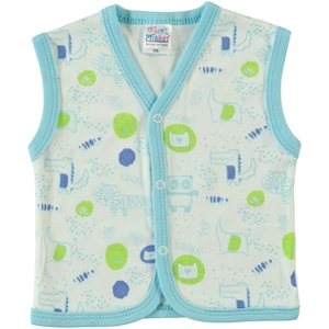 Misket 1-9 Months, Baby Boy Vest, Turquoise