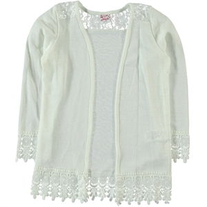 Civil Girls Ecru Cardigan Age 6-9 Girl