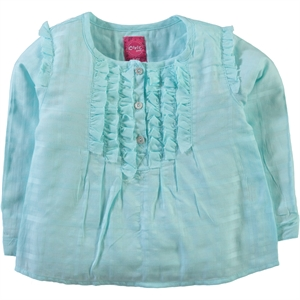 Civil Girls 2-5 Years Girls Mint Green Frilly Shirt