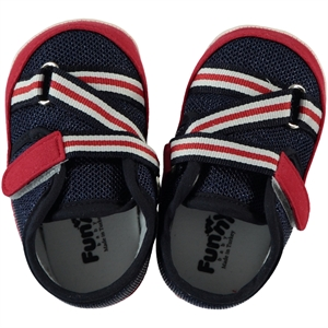 Funny Baby Baby Shoes Sports Navy Blue Number 17-19