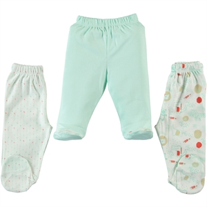 Misket Oh Baby, Booty 1-3 Months, Single Child Baby Boy Mint Green