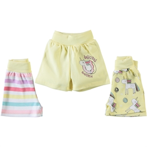 Babycool 3-18 Months Baby Girl Yellow Shorts