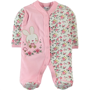 Misket Oh Baby, Booty Baby Girl Jumpsuit Pink 1-3 Months