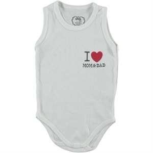 Civil Baby Ecru Baby 0-18 Months Bodysuit With Snaps
