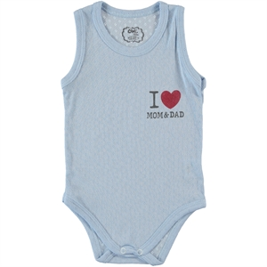 Civil Baby Baby 0-18 Months Blue Bodysuit With Snaps