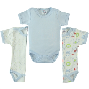 Misket Baby boy Bodysuit with snaps 3-0-12 months-Blue