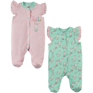 Kujju Oh baby, booty baby girl overalls 2-0-6 months mint green
