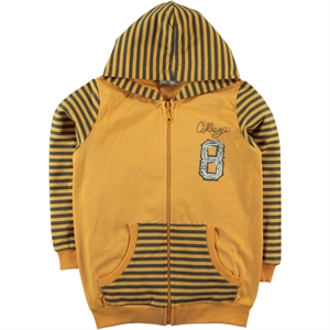 Cvl Mustard Hooded Cardigan Age 6-9 Boy