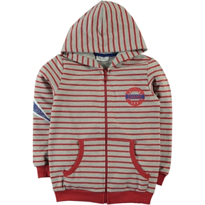 Cvl Red Hooded Cardigan Age 6-9 Boy