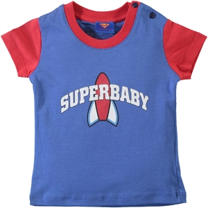 Superman Baby T-Shirt Blue-6-18 Months