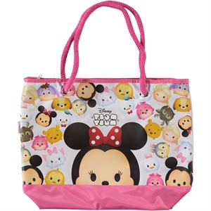 Disney Tsum Tsum Pink Girl's Beach Bag (1)
