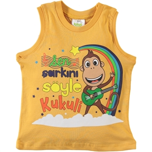 Kukuli Boy T-Shirt Mustard 1-5 Years
