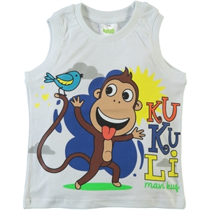 Kukuli Boy T-Shirt White 1-5 Years