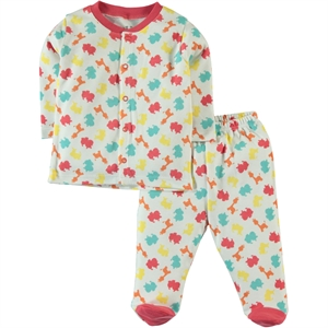 Kujju Team 6-18 Months Baby Pajamas, Tongue In Cheek