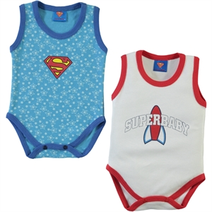 Superman Cimpa Baby Superbaby Bodysuit with snaps 2-gang, White