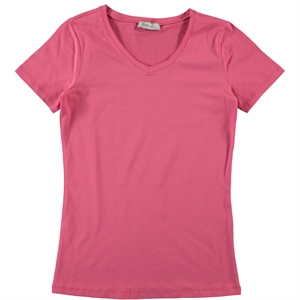 Cvl Pregnant combed cotton T-shirt XS-XL Fuchsia