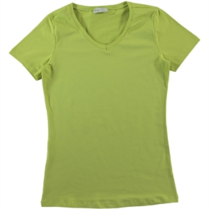 Cvl Pregnant combed cotton T-shirt XS-XL Yesil
