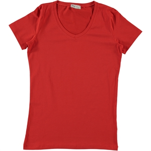 Cvl Pregnant combed cotton T-shirt XS-XL Red