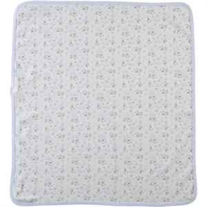 Misket Blue double layer baby blanket 80x90cm