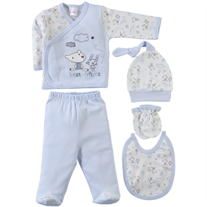 Misket 5 Set baby 0-1 month Zibin Blue