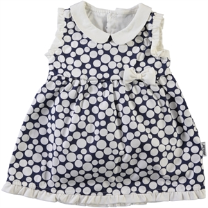 Kujju 6-18 Months Baby Girl Dress Navy Blue
