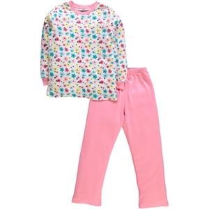 Cvl Kız Çocuk Pijama Takımı 6-9 Yaş Yavruağzı