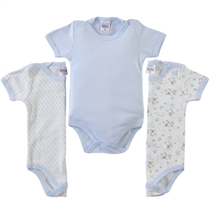 Misket Baby 3-0-12 months bodysuit with snaps, blue (1)