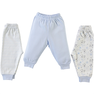 Misket Only 3 pcs patiksiz alt 1-9 months baby blue