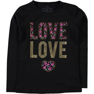 Cvl Black Sweatshirt Kids Girl Age 10-13