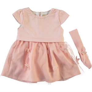 Wecan Bandanna Baby Girl Dress, Pink, 6-18 Months